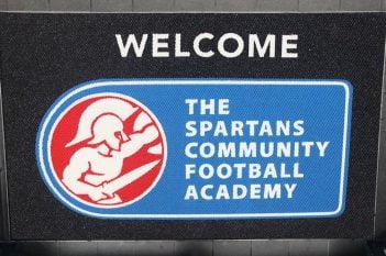 Spartans logo mat
