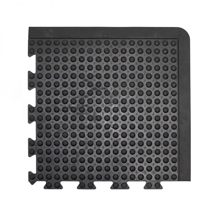 Bubblemat Connect Workplace Matting Style Black Corner