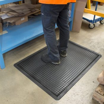 Bubblemat Workplace Matting Black