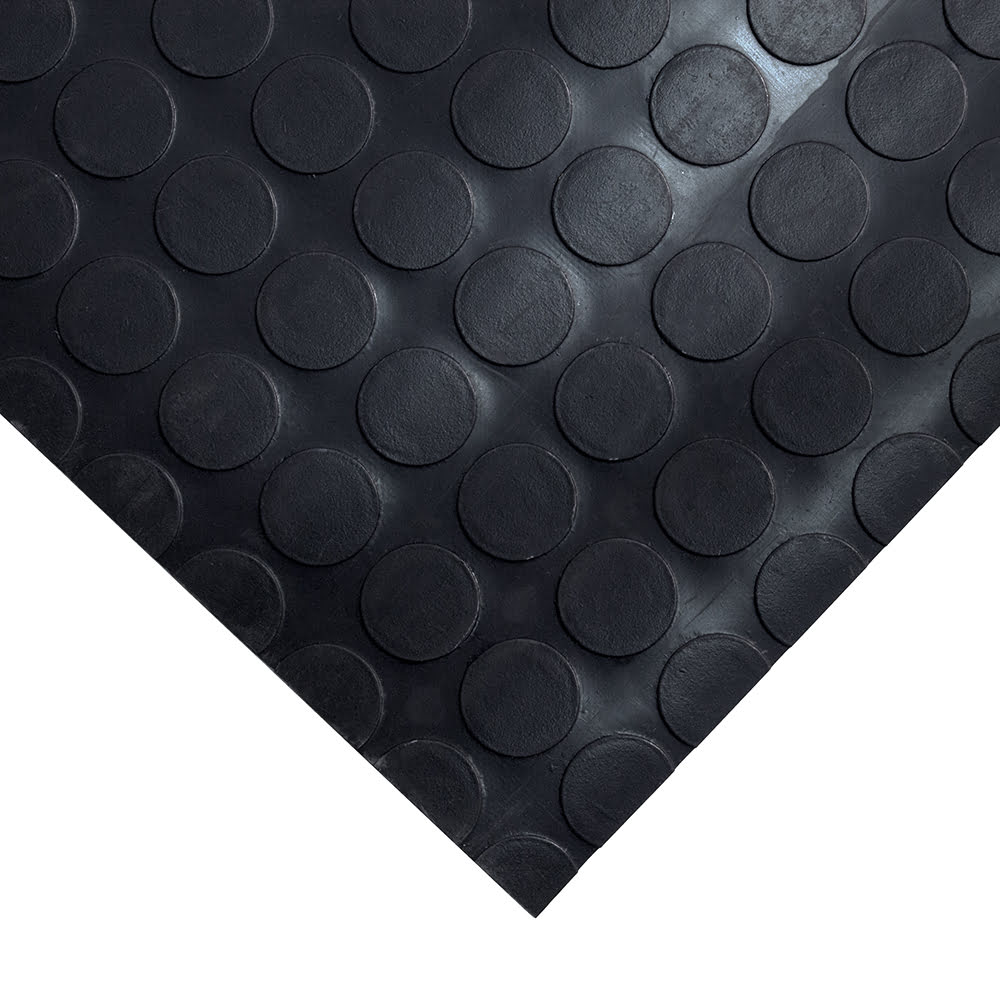 Coba Dot Vinyl Workplace Matting Style Black