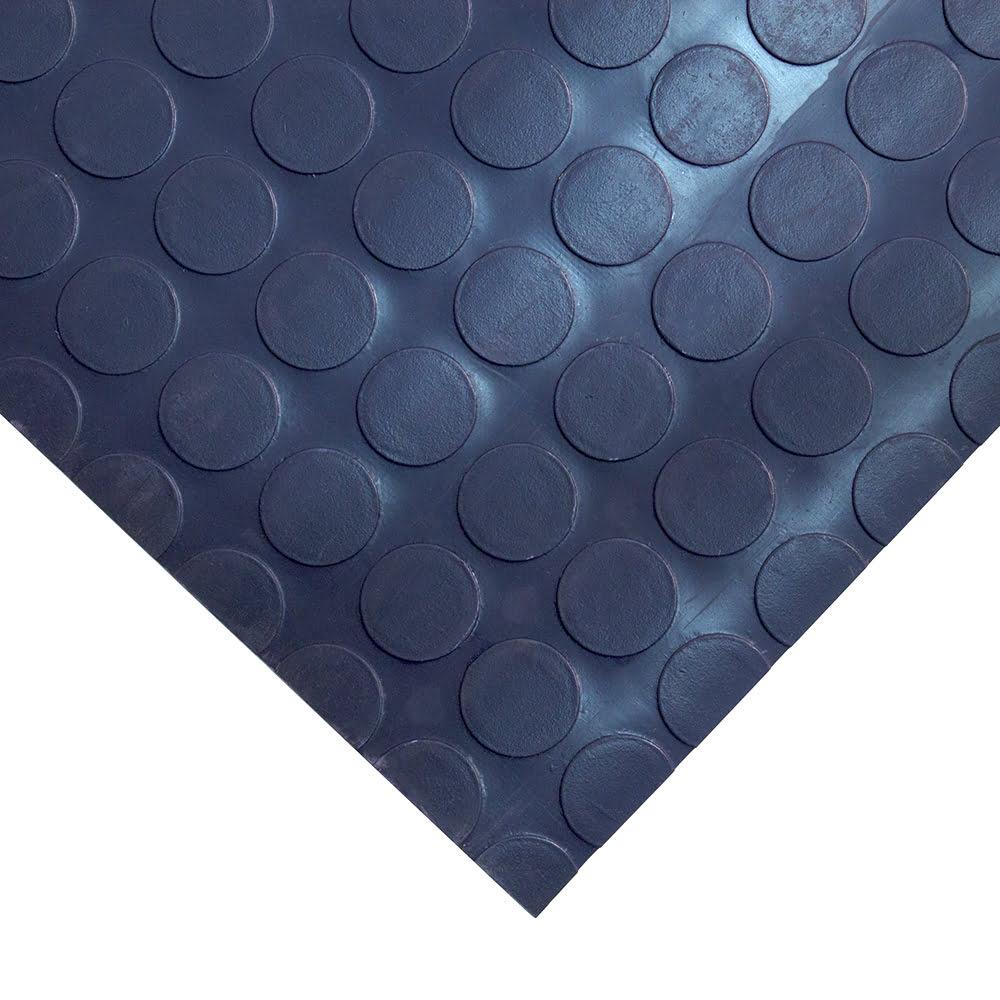Coba Dot Vinyl Workplace Matting Style Blue