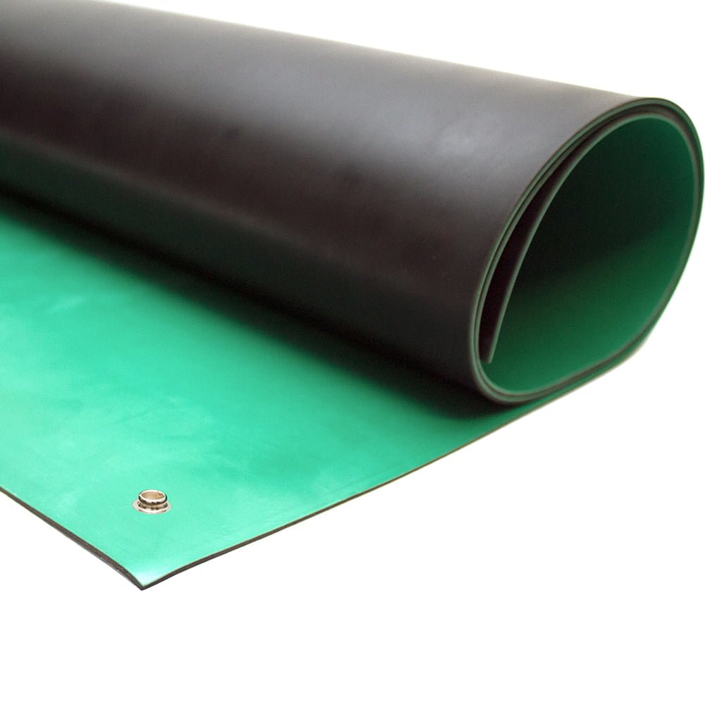 Conductive Rubber Bench Matting Esd Mats And Equipment Style Green