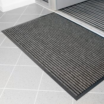 Duo Entrance Mat Black Charcoal