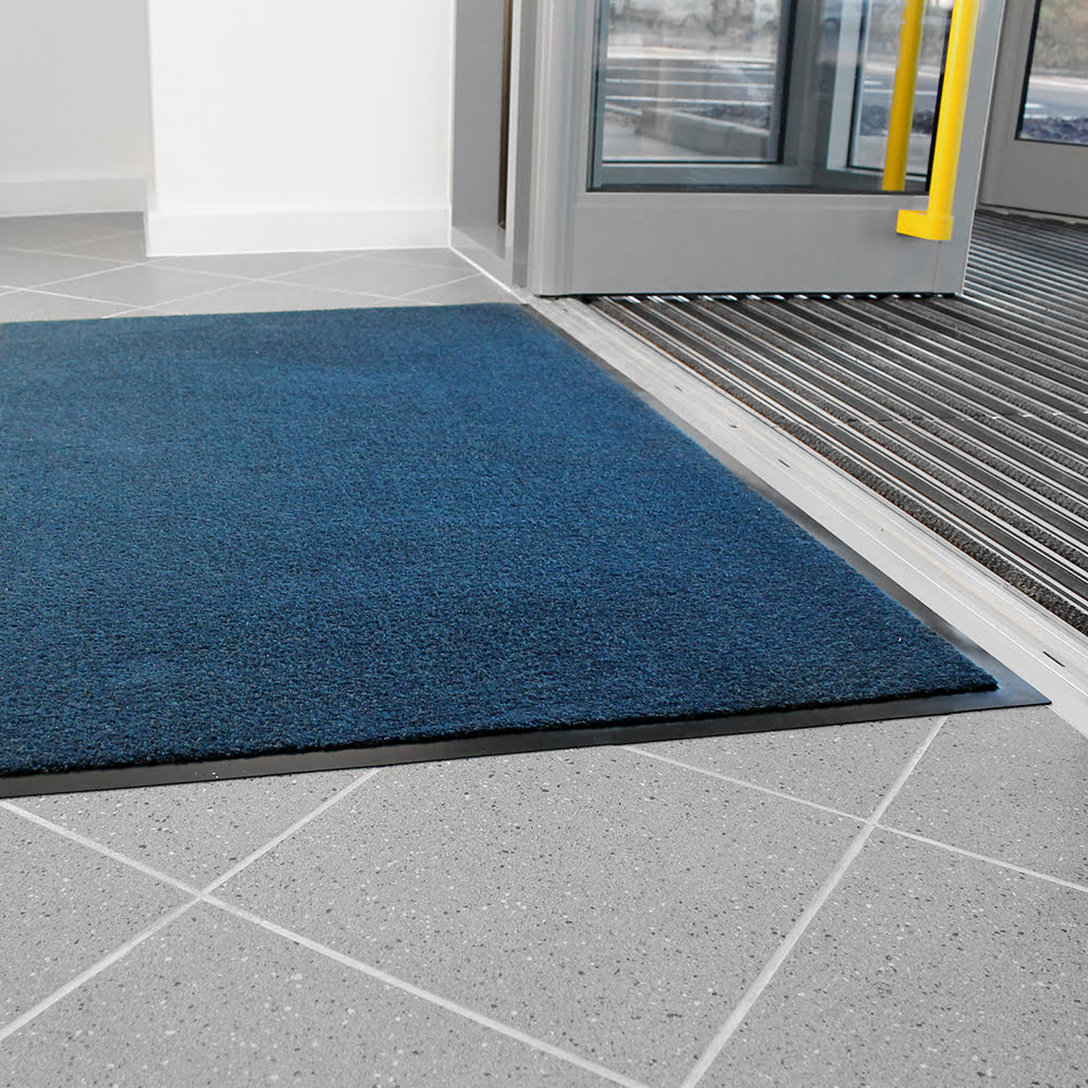 Entra Plush Entrance Mat Blue