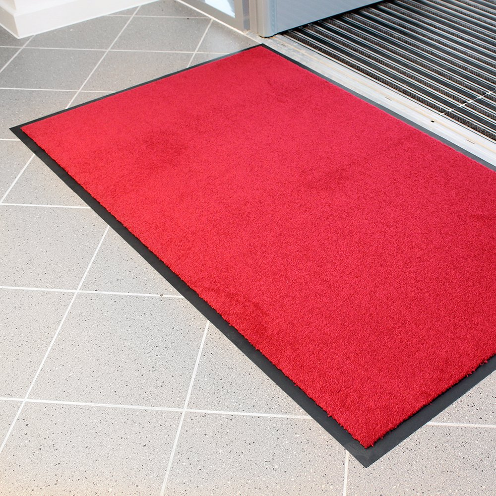 Entra Plush Entrance Mat Red