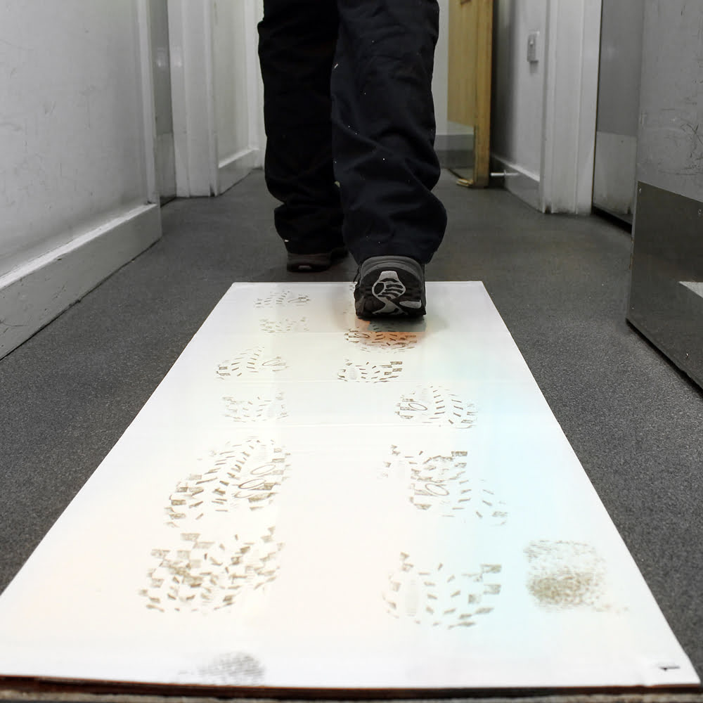 First Step Entrance Mat White