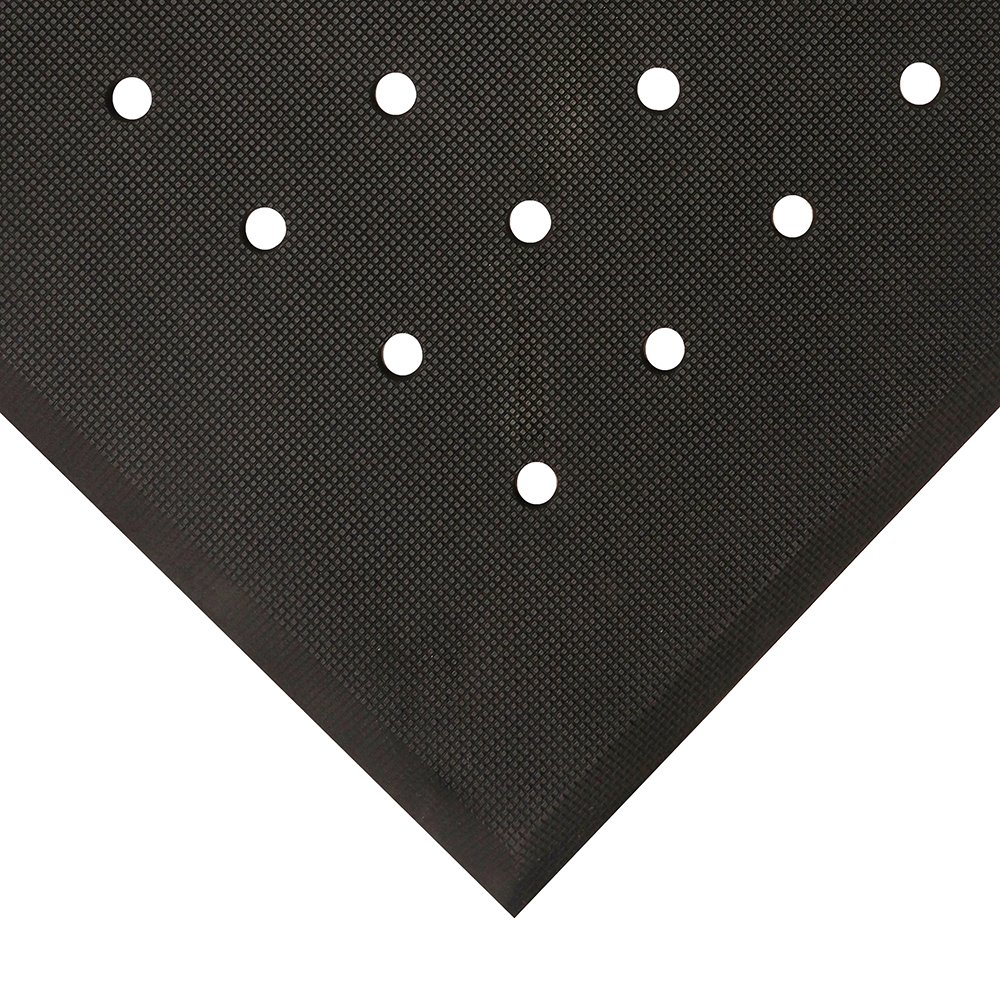 Hygienic anti-fatigue mat with holes
