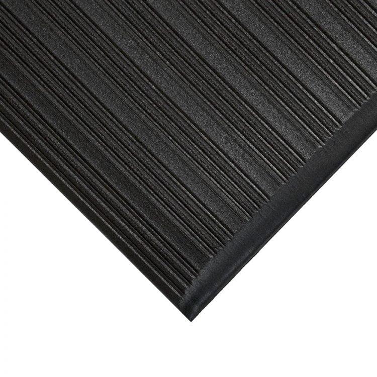 Orthomat Ribbed Workplace Matting Style Black