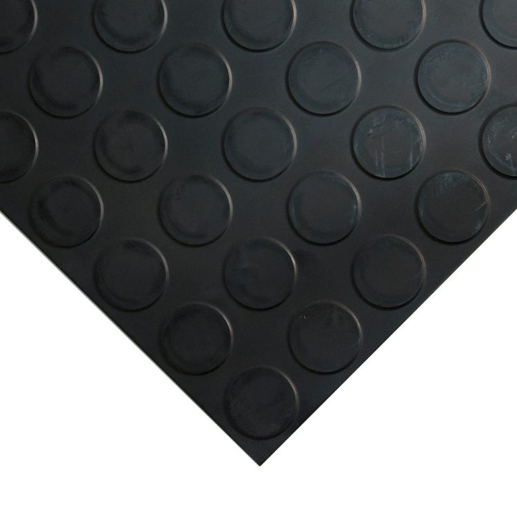 Studded Tile Floor Coverings Style Black