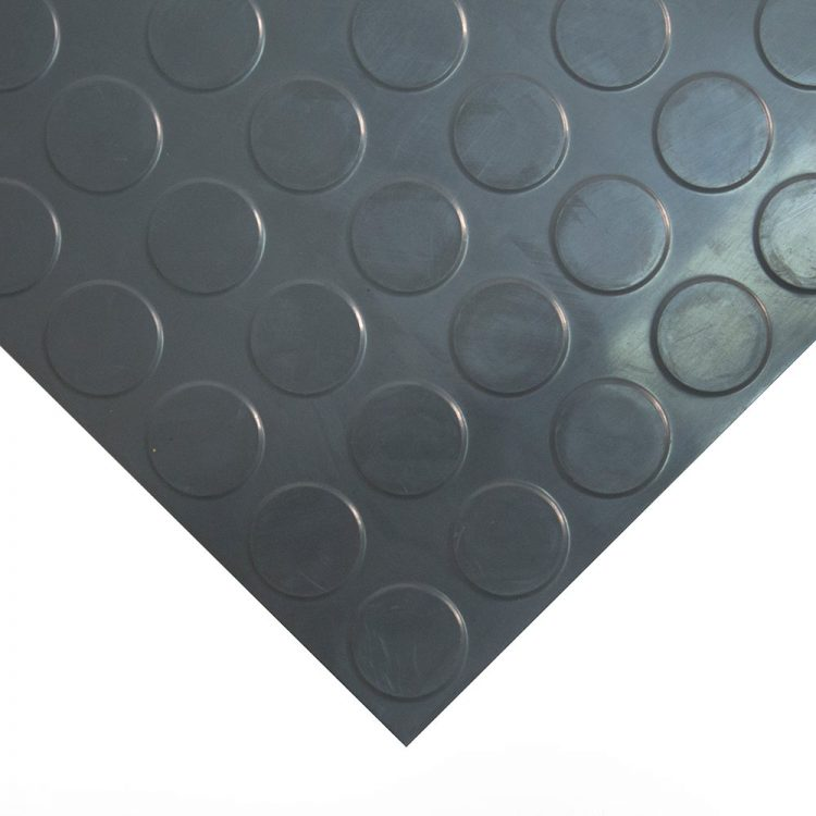 Studded Tile Floor Coverings Style Dark Grey