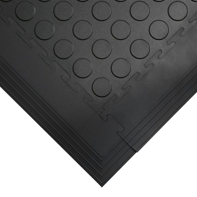 Tough Lock Studded Floor Coverings Style Black