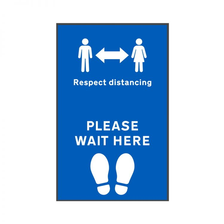 please respect social distancing floor mat
