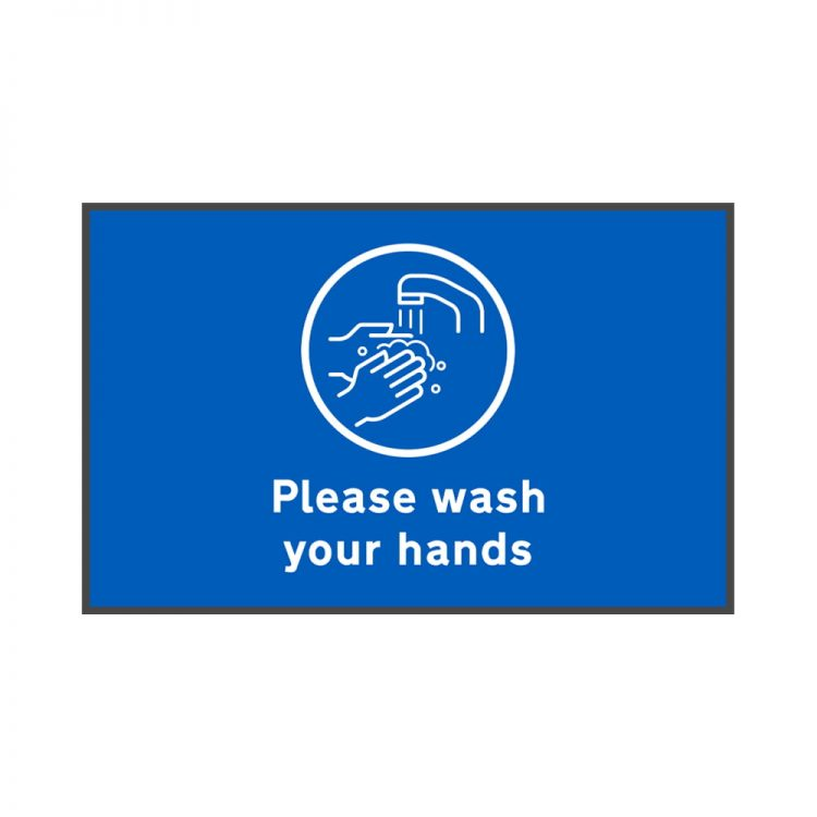 please wash your hands floor mat