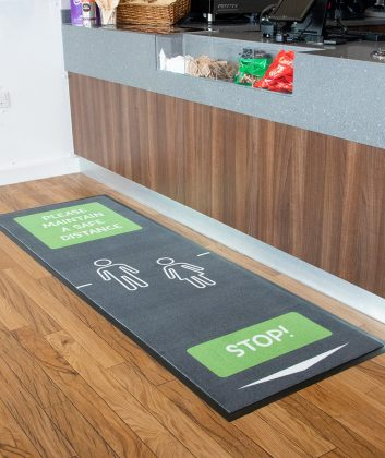 social distancing mat for shcools canteen