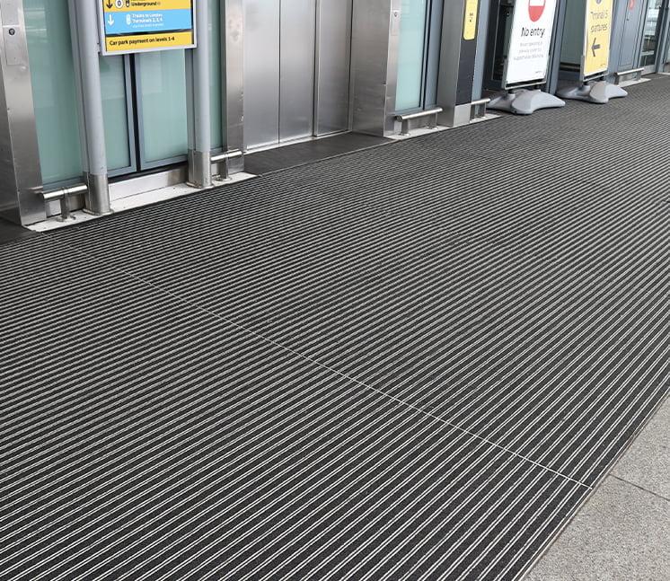 Airport entrance matting