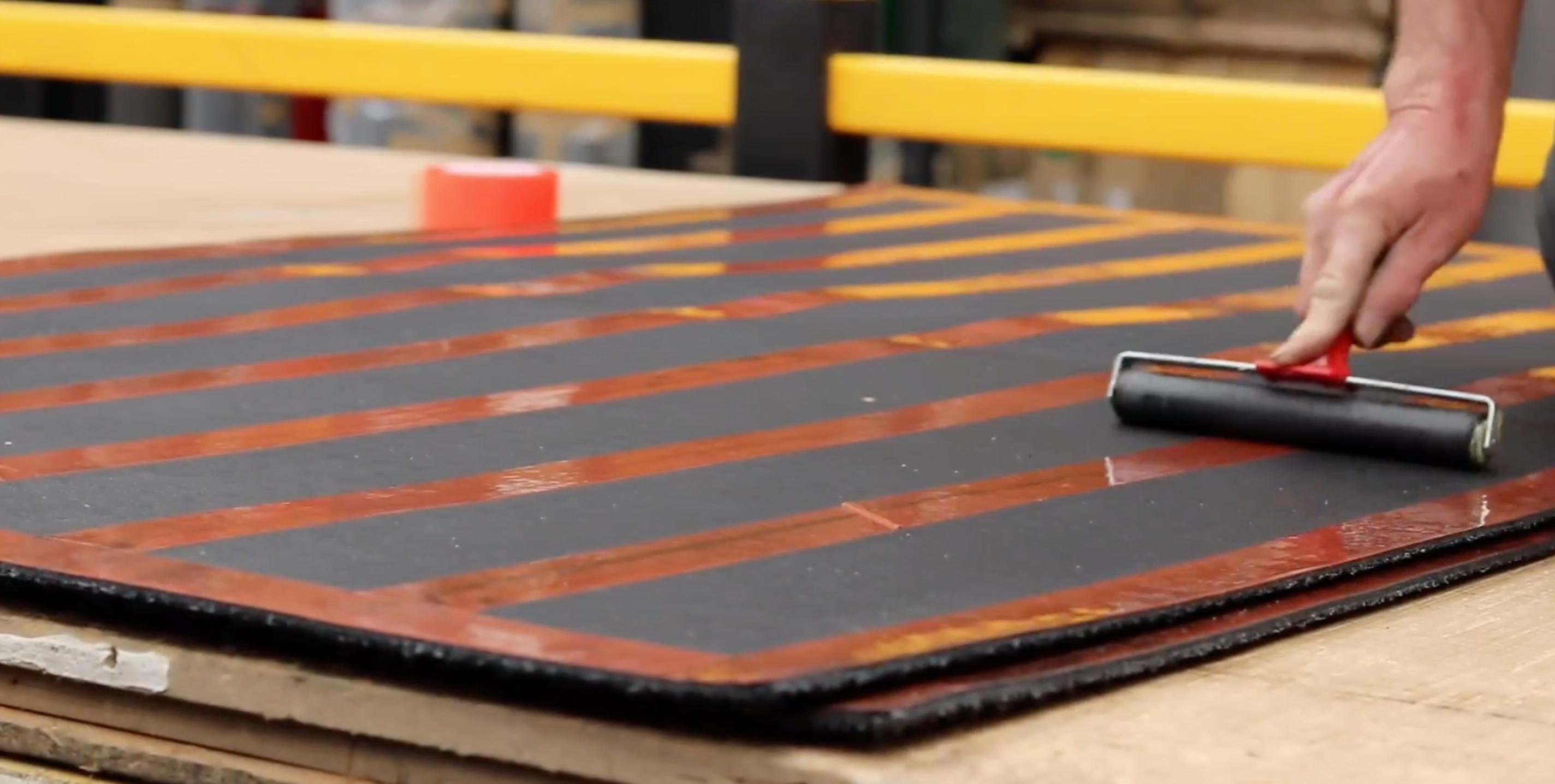 securing matting tape