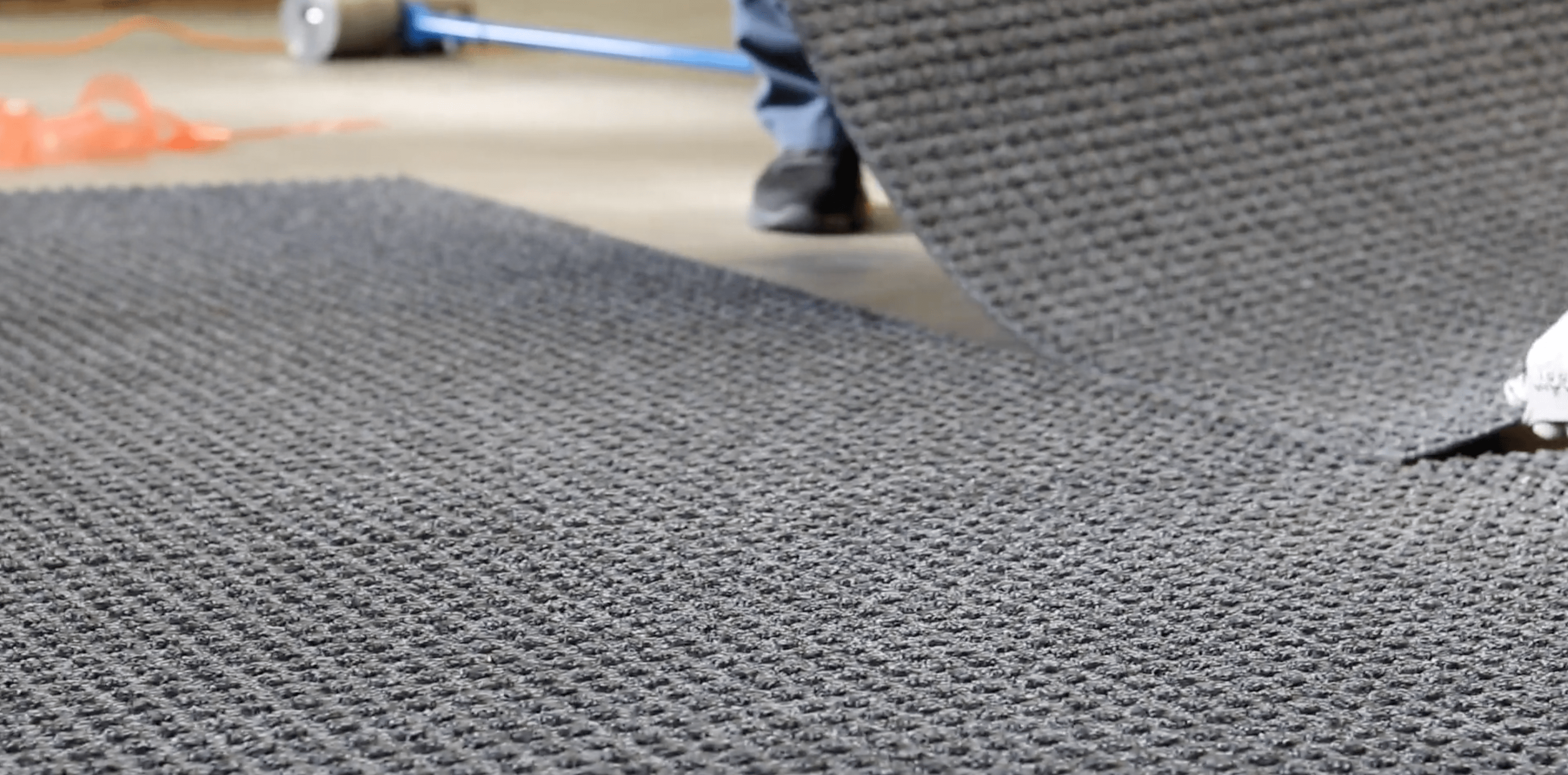 fitting forklift matting