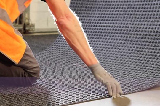 Forklift matting installation